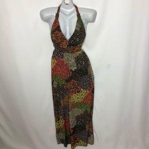 CRISTINA LOVE bohemian hippie halter maxi dress